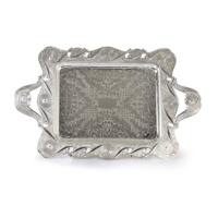 LoveQ Gümüş Tepsi 58X38Cm