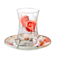 LoveQ Cam Red Rose 12 Parça Heybeli Set