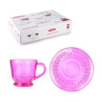 LoveQ 6 Renk Transparan Çay Bardağı