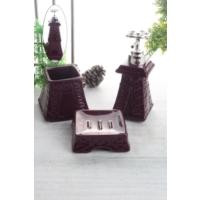 LoveQ Porselen Eyfel 3 Parça Sıvı Sabunluk Set Ckr-1057-Mo