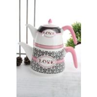 LoveQ Porselen Çaydanlık Ckr-1928-P