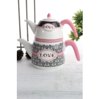 LoveQ Porselen Çaydanlık Ckr-1927-P