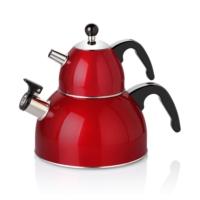Bernardo Planet Çelik Çaydanlık Kırmızı