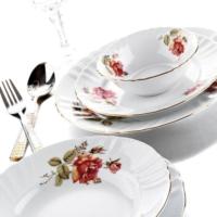 Kütahya Porselen Diana Güllü Yemek Seti