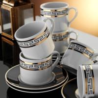 Kütahya Porselen Rüya 7045 Dekor Kahve Fincan Takımı