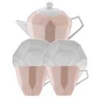 Kütahya Porselen 6 Parça Çay Seti Somon