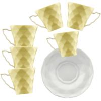Kütahya Porselen Kahve Takımı Sarı