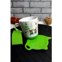 Loveq Sallama Çay Hazneli Yeşil Kupa Seti