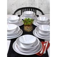 Keramika 24 Parça 6 Kişilik Hitit Yemek Takımı Beyaz
