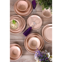 Keramika 24 Parça Hitit Yemek Takımı Pudra