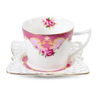 Loveq 6Lı Çay-Nescafe Takımı Altın Yaldızlı