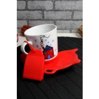 Loveq Sallama Çay Hazneli Kırmızı Kupa Seti