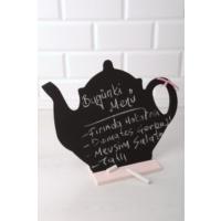 Helen's Dekoratif Çaydanlık Kara Yazı Tahtası
