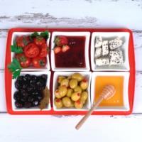 Ubi Home Side Kırmızı Seramik&Akrilik Kahvaltı Seti