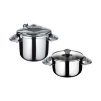 Falez Twist & Cook 4+7 Düdüklü Tencere Seti Gümüş Gri