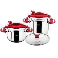 Falez Twist & Cook 4+7 Lt Kırmızı Düdüklü Tencere