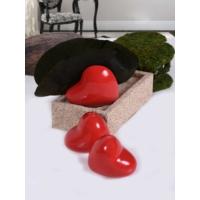 Keramika 3 Adet Kalp Kırmızı Tuzluk, Biberlik, Peçetelik