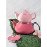Keramika 2 Parca Açık Pembe Çay Seti