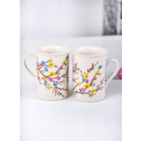 Keramika 2 Adet 10 Cm Tuna İlkbahar Tomurcuk Kupa