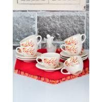 Keramika 12 Adet Kera Çay Takımı Sonbahar Tomurcuk