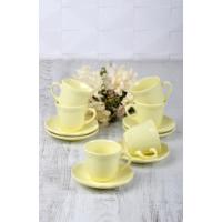 Keramika 12 Adet Romeo Çay Takımı Açık Sarı
