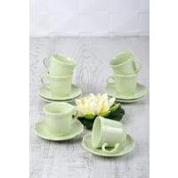 Keramika 12 Adet Romeo Çay Takımı Nil Yeşili
