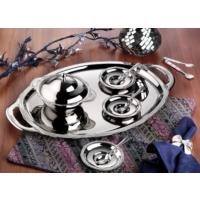İslamoğlu Çiçekli Oval Çay Tepsisi