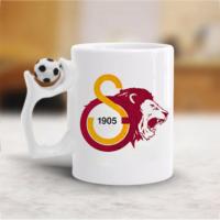 Galatasaray Aslan Futbol Toplu Beyaz Kupa Bardak Baskı