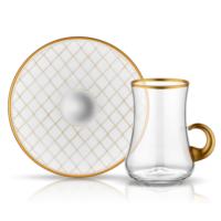 Koleksiyon Dervısh Kulplu Çay Seti 6Lı Kapıtone