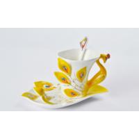 Yargıcı Porselen Kuğulu Çay Fincanı