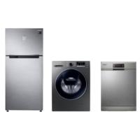 Samsung Inox Premium Beyaz Eşya Paketi (RT50K6200S8/TR 516 Lt Buzdolabı + WW90K5410UX/AH 9 Kg Çamaşır Makinesi + DW-FN310T/XTR 5 Programlı Bulaşık Makinesi)