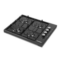Kumtel Lx-420F Doğalgazlı Set Üstü Ocak Siyah