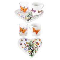 CuteChef KitchenKalp Kelebekli İlkbahar Kahve Fincan Seti