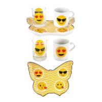 CuteChef Kitchen Kelebek Emojili Kahve Fincan Seti
