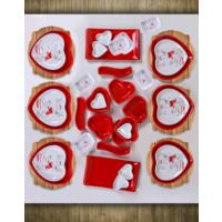 Keramika 35 Parça Kırmızı Peri Masalı Kahvaltı Takımı