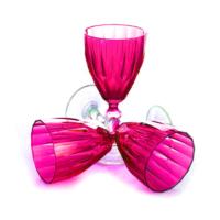 Joy Glass 6 Lı Dıamond Şarap Kadehi Fuşya