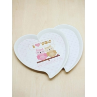 Kitchen Love Çift Kalp Model Tepsi