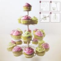 Fackelmann 4 Katlı Cup Cake Kek Standı Gri