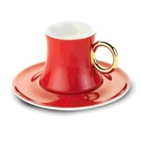 Korkmaz A8660 Freedom 6lı Kahve Fincanı Kırmızı