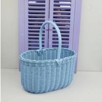 Cosıness Kulplu Hasır Çok Amaçlı Sepet - Bebe Mavisi