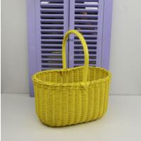 Cosıness Kulplu Hasır Çok Amaçlı Sepet - Sarı