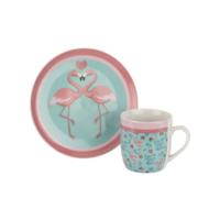 Tantitoni Porselen Flamingo 2 Parça Kahvaltı Seti