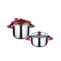 Falez Twist-Cook Düdüklü Tencere Set 4 Parça 7 lt +4 lt - Kırmızı