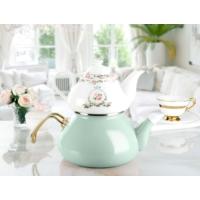 Madame Coco Florale Verte Çaydanlık