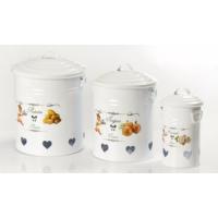 Yargıcı Porselen 3Lü Patates-Soğan-Sarımsak Set-Beyaz
