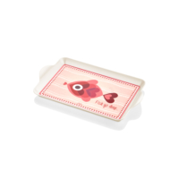 The Mia Melamin Mini Tepsi 23 X 14 Cm - Fish Pembe