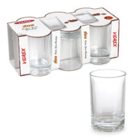Vidrex Azra 6'lı Cam Kahve Yanı Bardağı 100 cc