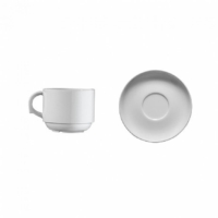 İkram Dünyası Kütahya Porselen Çay Fincanı Tabaklı Dekorsuz 6'Lı