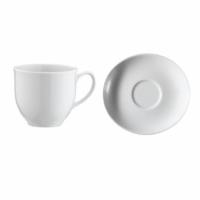 İkram Dünyası Kütahya Porselen Oval Serisi Çay Fincanı Tabaklı 6'Lı