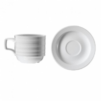 İkram Dünyası Kütahya Porselen Şato Serisi Çay Fincanı Ve Tabağı 6'Lı